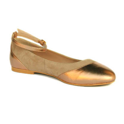 Nicole-gold-flat-ankle-strap-leather-round-toe-pump-1