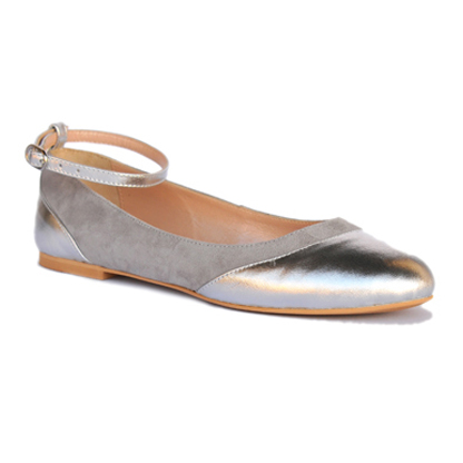 Nicole-silver-flat-ankle-strap-leather-round-toe-pump-1