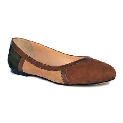 Sylvie-coffee-flat-leather-round-toe-ballerina-pump-1