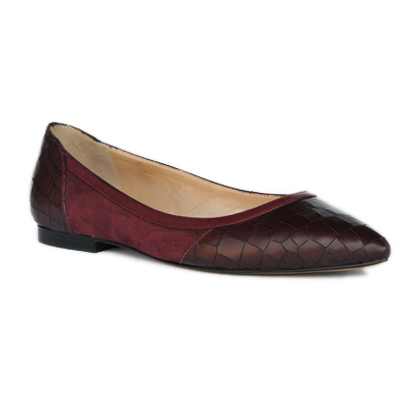 Valerie-bordeaux-pointed-toe-flat-leather-pump-1