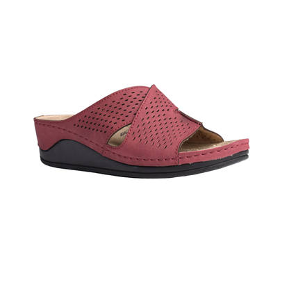 Ash-bordeaux-medium-wedge-comfort-mule-1