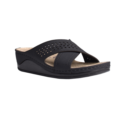 Aspen-black-medium-wedge-stappy-comfort-mule-1