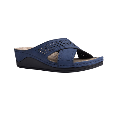 Aspen-navy-medium-wedge-stappy-comfort-mule-1