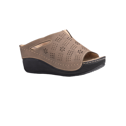 Chestnut-brown-high-wedge-comfort-mule-1