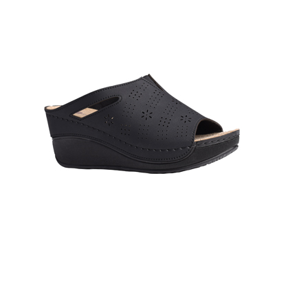 Chestnut-matt-black-high-wedge-comfort-mule-1