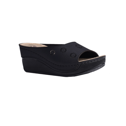 Frangipani-matt-black-high-wedge-flower-detail-comfort-mule-1