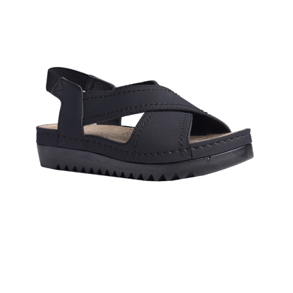 Willow-black-flatform-elasticated-sandal-1