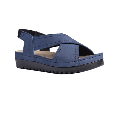 Willow-navy-flatform-elasticated-sandal-1