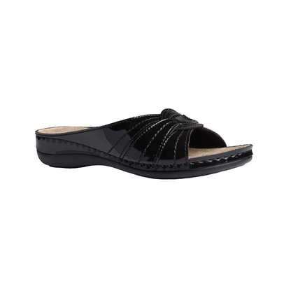 Yew-shiny-black-low-wedge-comfort-mule-1