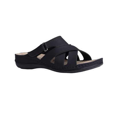 Maple-black-low-wedge-strappy-comfort-mule-1