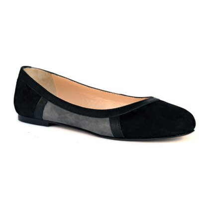 Sylvie-black-flat-leather-round-toe-ballerina-pump-1
