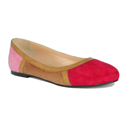 Sylvie-fuschia-flat-leather-round-toe-ballerina-pump-1