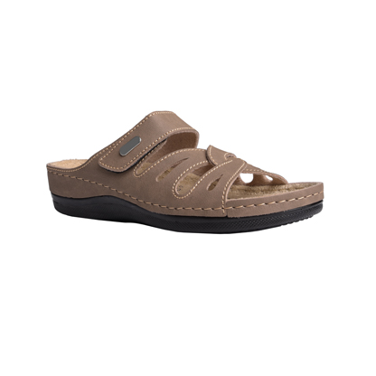 Bay-brown-low-wedge-velcro-side-comfort-mule-1