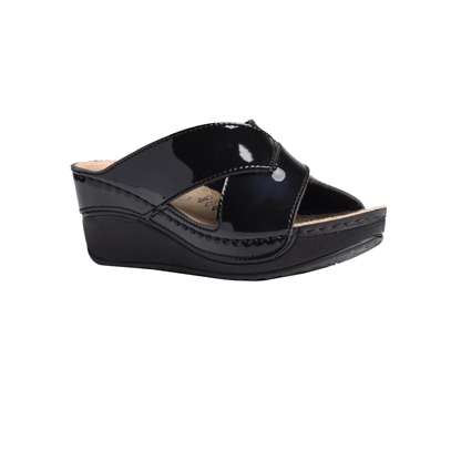 Elm-shiny-black-high-wedge-strappy-comfort-mule-1