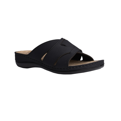 Fir-black-low-wedge-strappy-comfort-mule-1