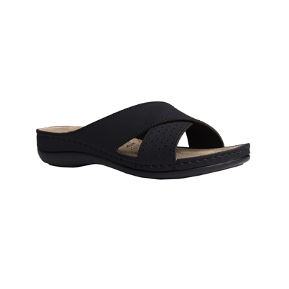 Larch-black-low-wedge-strappy-comfort-mule-1