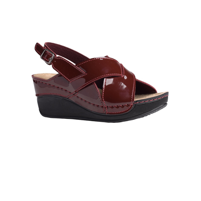 Oak-shiny-bordeaux-wedge-heeled-slingback-sandals-1