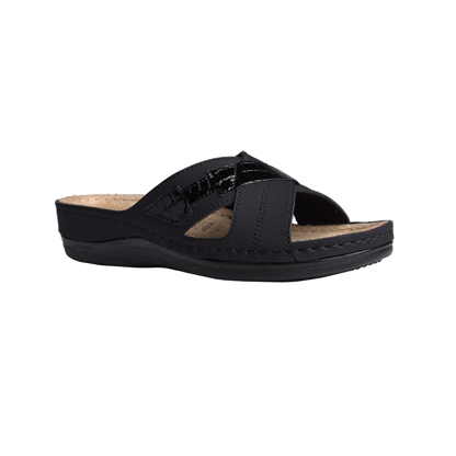 Spruce-black-low-wedge-comfort-mule-1